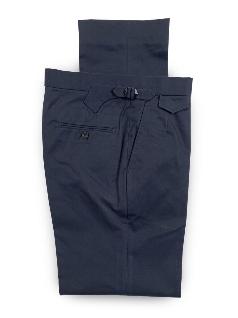 Cotton Trousers - Dark Navy
