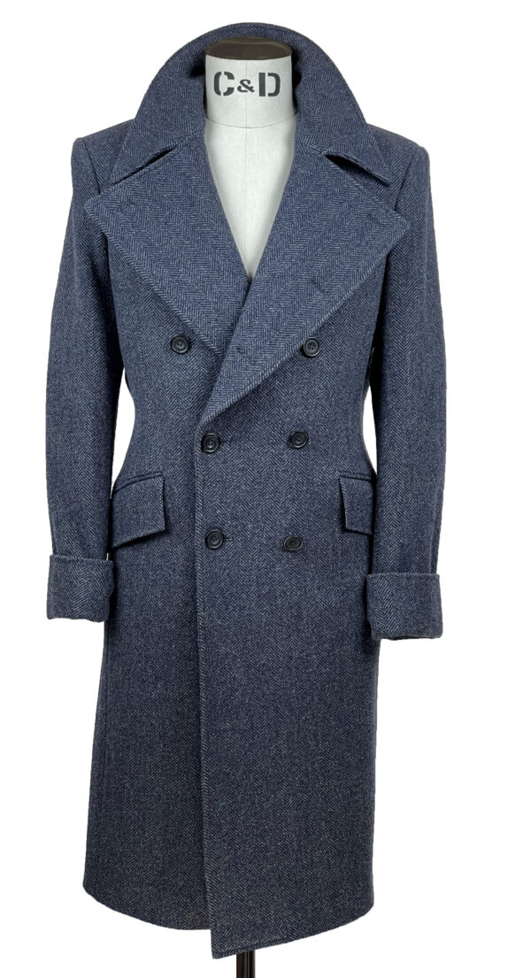 Prussian Blue Great Coat Front