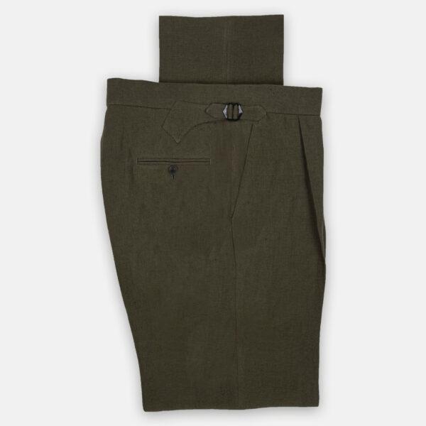 Olive Linen Trouser