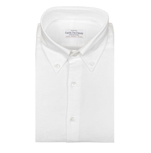Brushed Cream Cotton Shirt