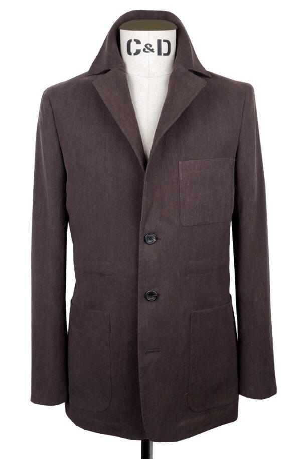 worker-jacket-chocolate-linen-front
