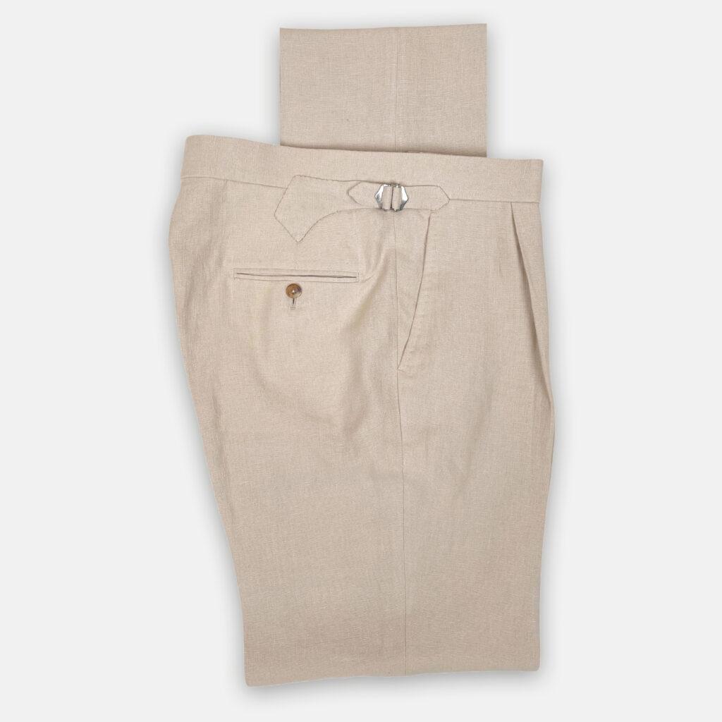 Ecru Linen Trouser