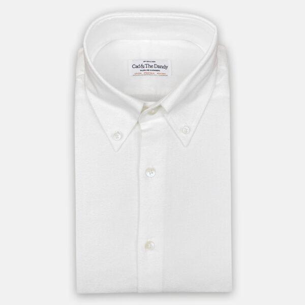 Brushed White Cotton Shirt