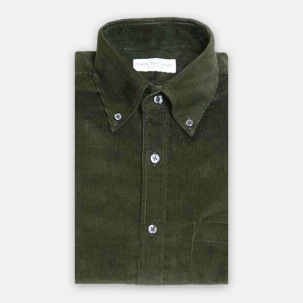 Button Down Green Cord Shirt