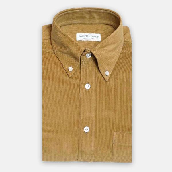 Button Down Tan Cord Shirt