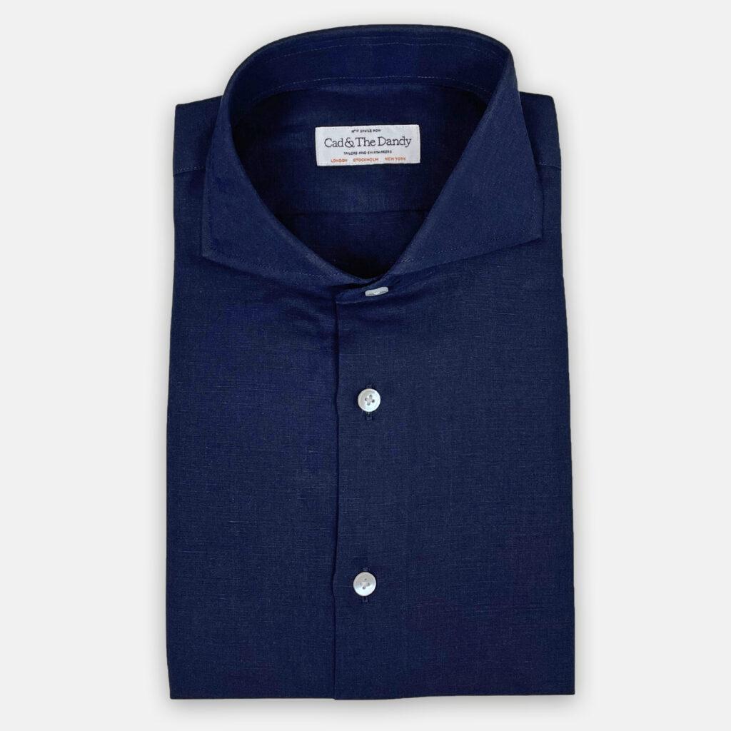 Ink Blue Cotton Shirt