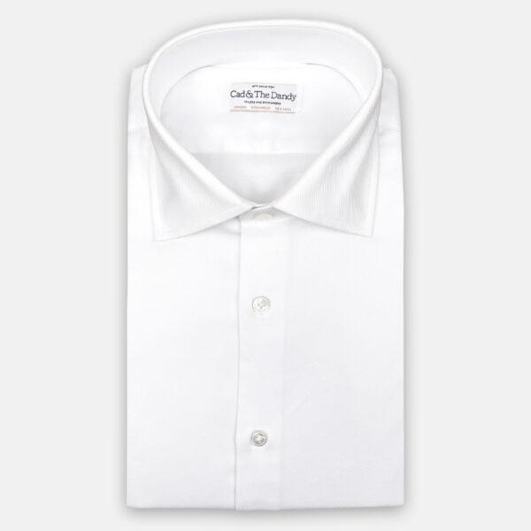 White Cotton Slim Fit Shirt