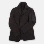 Worker Jacket in Brown Linen