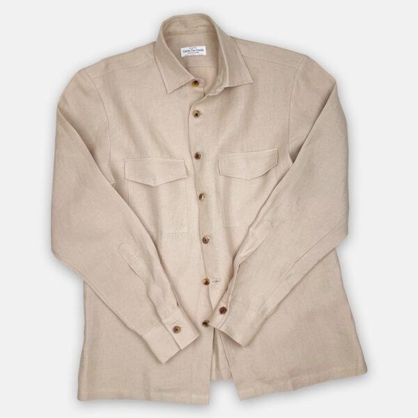 Ecru Overshirt Front