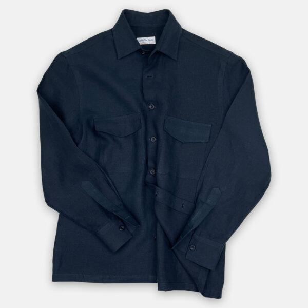 Navy Overshirt Front