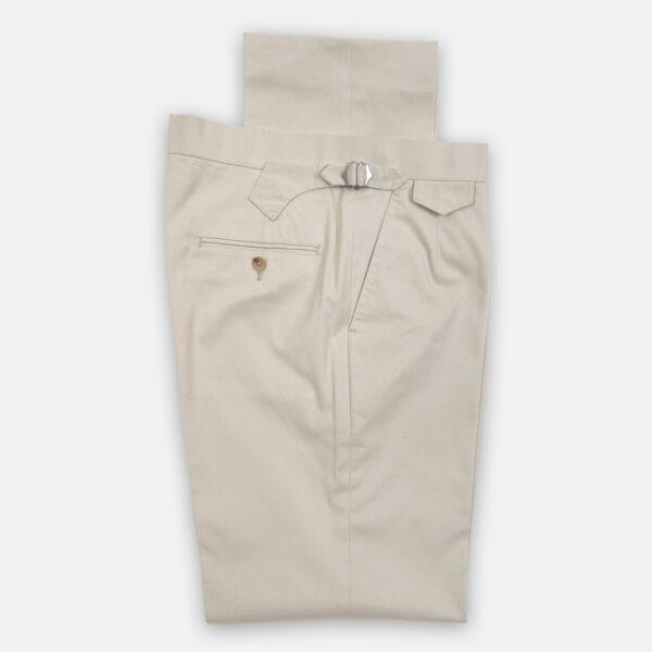 Cream Cotton Trouser