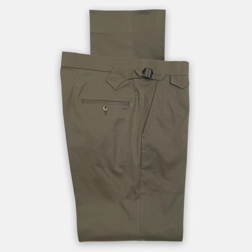 Green Cotton Trouser