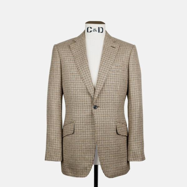 Cream & Brown Houndstooth Jacket